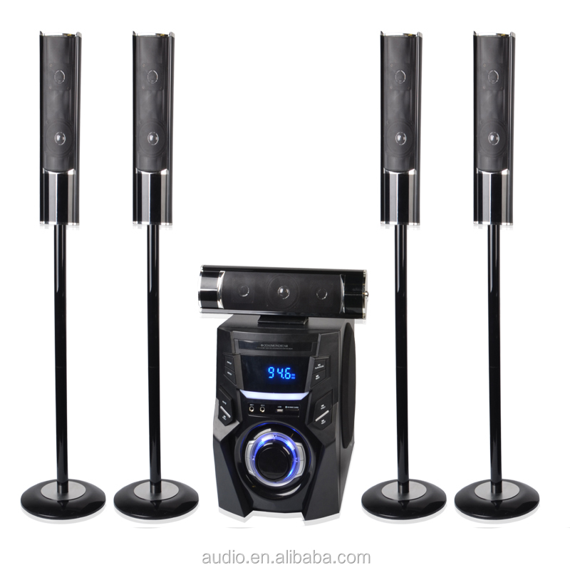 Bluetooth 3D sound 5.1ch dj bass speakers tower home theater column speaker system