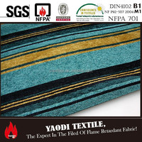 best selling FR sofa cover fabric passed standard NFPA701,BS5867