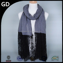 GDBS108 High Quality Cotton Scarf new styles fashion scarf shawl lace muslim pashmina