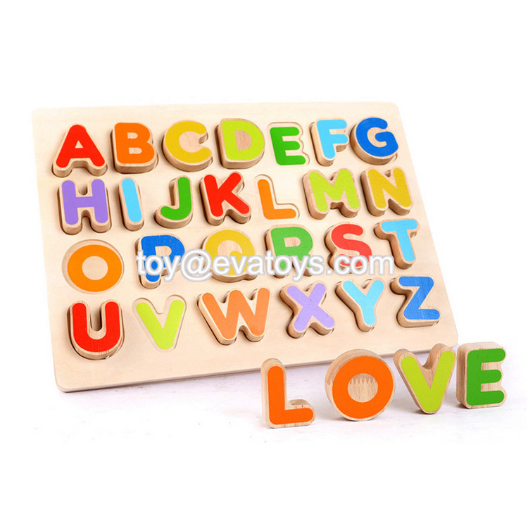 New hottest educational matching toys wooden abc puzzle for kids W14B081