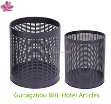 Mesh Design Metal Wastebasket