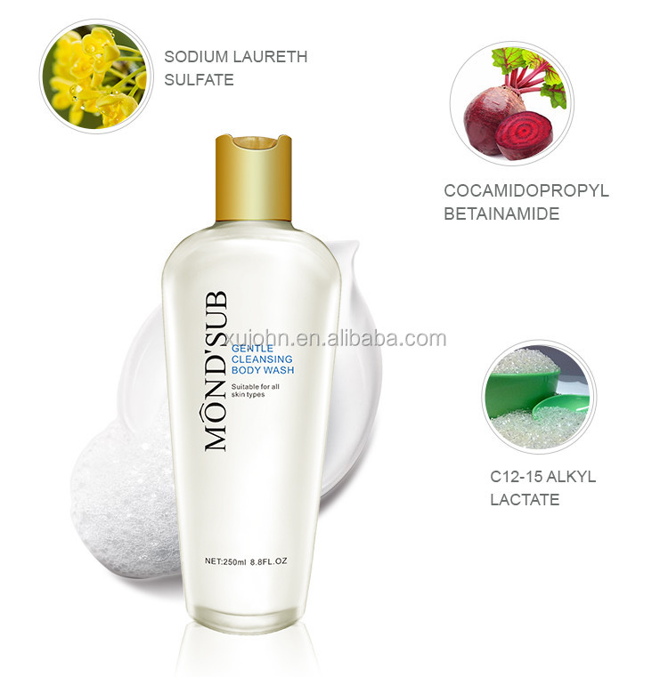 Gentle Cleansing Skin Lightening Liquid Body Wash Private Lable Skincare