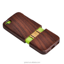 Mobile Phone Accessories Factory in China Shenzhen Real Walnut + Rose Wood phone case for iPhone 5C