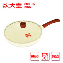 2015 factory price 30cm die casting alu white ceramic wok