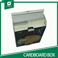 TUCK TOP COLORED CARDBOARD BOXES FOR COOKIES PACKAGING WITH PE COATED INSIDE