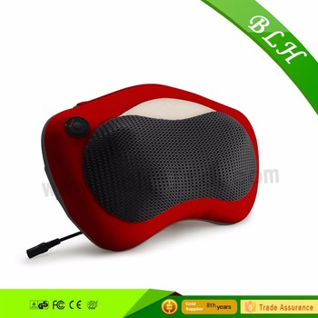 2016 Best infrared body care heating shiatsu kneading waist massager 3D electric heated neck pillow