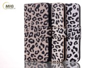 Luxury Leopard Print Flip Leather Card Holder Wallet Phone Case for iPhone 7