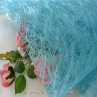 turquoise sizo web material for flower wrapping