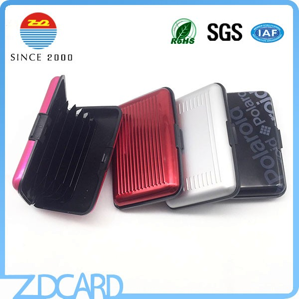Metallic Aluminum RFID Blocking Card Holder/Wallet Case
