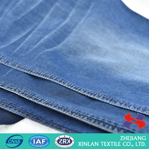 XinLan Beautiful design blue cotton denim fabric for jeans