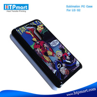 2D pc blank sublimation phone case leather case for lg g2