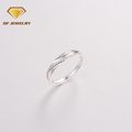 Daily wearing jewelry rings cz stone paving 925 sterling silver material ring