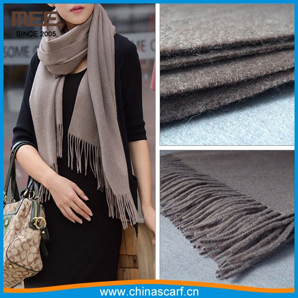 100% real sheep boiled fleece blanket coffee color wool scarf