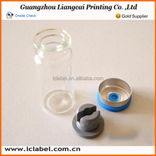 Popurlar glass injection test tube medical vials with rubber stopper