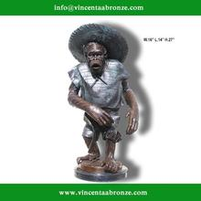 High Quality bronze markey statue on marble base (Bronze Foundry directly supplies)