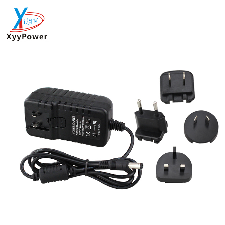 12V 1A ac/dc interchangeable plug power adapter 9v 1a multiplug adapter with CE UL PSE for ac/dc cctv camera monitor