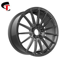ST customized hot sale gray coating forged car wheel
