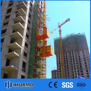 High Safety sc200/200 double cage construction lifter material hoist