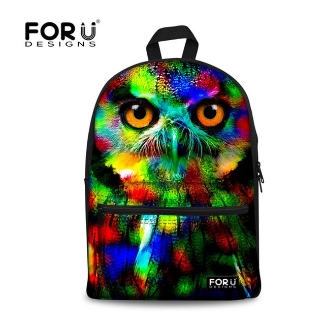 Fashion 2016 Colorful Women Owl Leopard Backpack 3D Animal Print Girls School Bagpack Female Ladies Tourism Backpack Rucksack