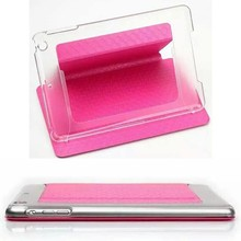 Electroplate Plastic Cases For iPad 2 3 4,PU Leather Back Cover