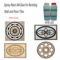 Fast Cure Clear Liquid Epoxy Resin Glue for Wall and Floor Tiles