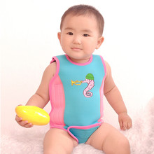 2.5MM 6-24 Months Baby kids Neoprene Keep warm secure swimming Wetsuit