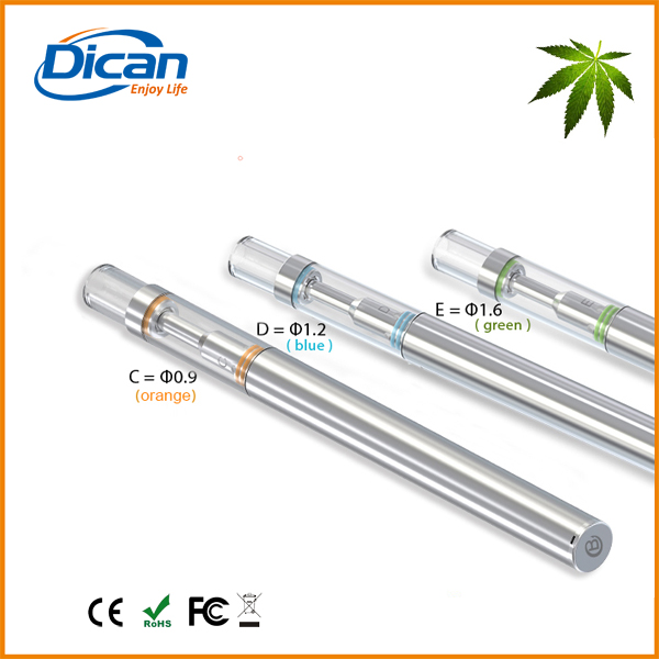 0.5ml stainless steel cbd cartridge disposable e cig with glass vape ceramic coil wickless atomizer for thick oils