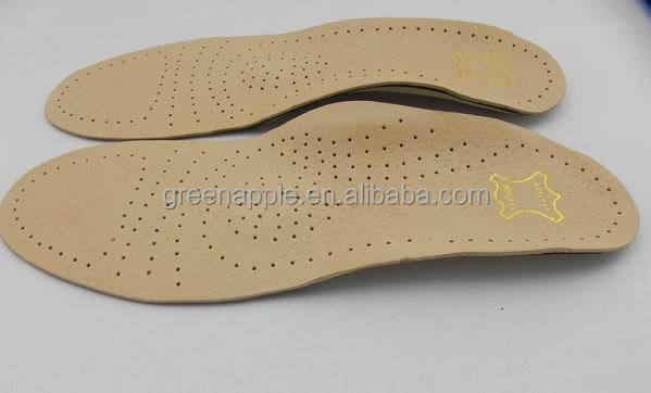 New Orthotic Arch Support For Flat Feet Hard Plastic Perforated Latex Foam Cushioning Orthopedic Sheepskin Leather Shoe Insoles