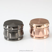 Spice Herb Tobacco Weed Grinder with Handle Tobacco Spice Herb Weed Mill with Pollen Scraper Zinc Alloy Material Grinder