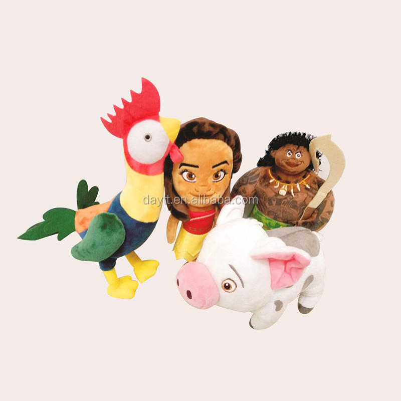 "Factory Supplier Grab doll 20cm/8"" Animation Movie Moana Plush Set Maui Pua Heihei Kakamora"