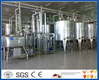 Integrated dairy production/processing line/plant for milk yoghurt cheese butter cream