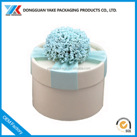 Custom design good looking round cardboard flower box of wholesale