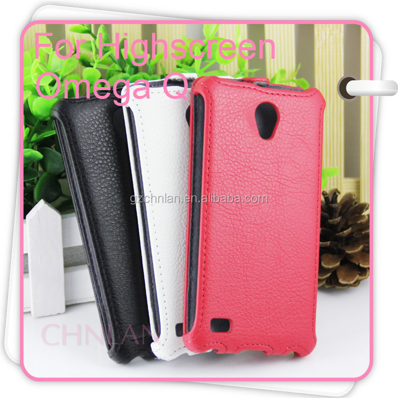 Fashion style leather wallet pu case for HighScreen Alpha GTR Rage /Omega Prime /Omega Q phone case