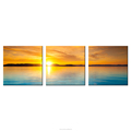Sunset Scenery Canvas Photo Prints HD Golden Seascape Printing on Canvas Sitting Room Decoration Wholesale 3 Panel