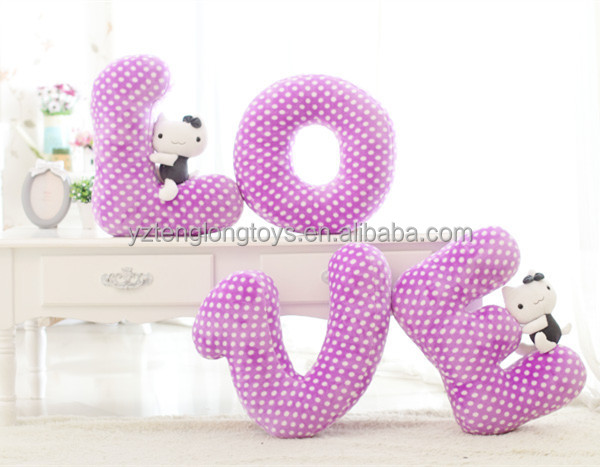 hot sale stuffed letter toy letter shaped pillow