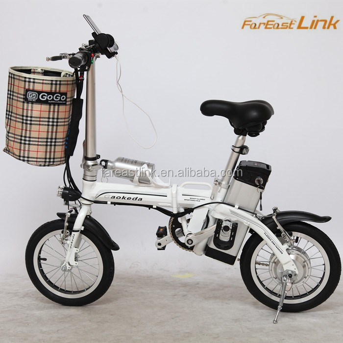 Collapsible Electric Bicycle BCP & two wheels electric folding bike/ green power electric bike