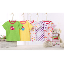 New arriving plain cotton baby shirt short sleeves blank baby t-shirts wholesale