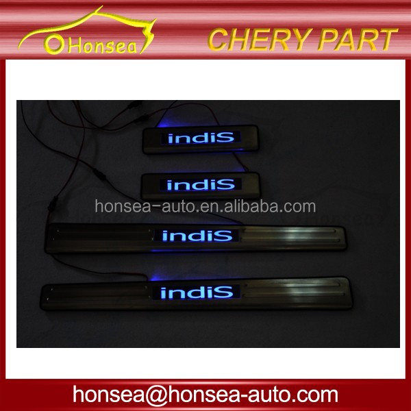 hot sales high quality lighted car door sill for Chery Indis