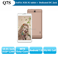 "7.0"" inch IPS 1280*800 Colorfly MTK6592 Octa Core 3G Phone Call Tablet 2GB/16GB Android 6.0 Phone with DC jack"