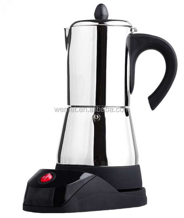 Stainless Steel Moka Coffee Maker / Electric Moka Pot