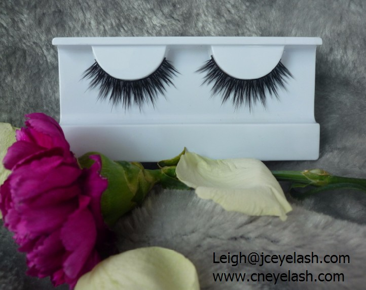Permanent Mink hair lash custom packaging beigeai plastic box