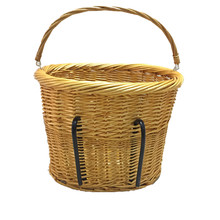 Large round Front bike carrier bicycle wicker basket for dog