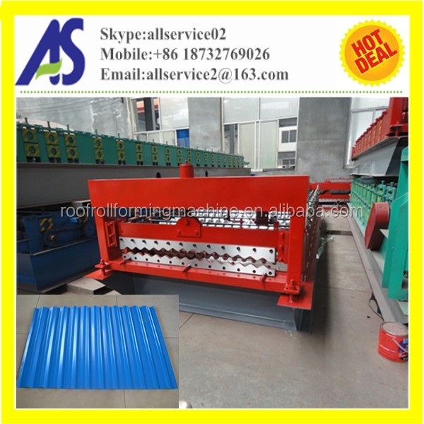 Aluminium Corrugated Roofing Tile Roll Forming Making Machine