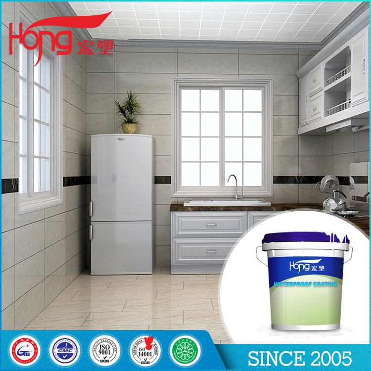No Pollution milky white sticky liquid waterproof coating with low price