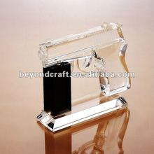 Excellent hand made crystal glass pistol gun ,crystal model