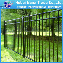 Black powder coated security backyard customizable commercial metal fencing