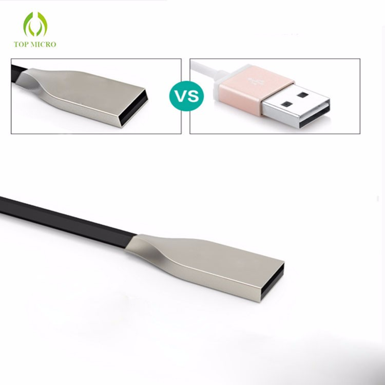 Quick Charge Diamond Shape Wire With Zinc Alloy Plug Micro USB Data Line Cable