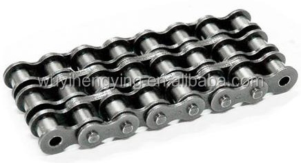 natural color three row A series short pitch stainless steel 24A-3 roller chain