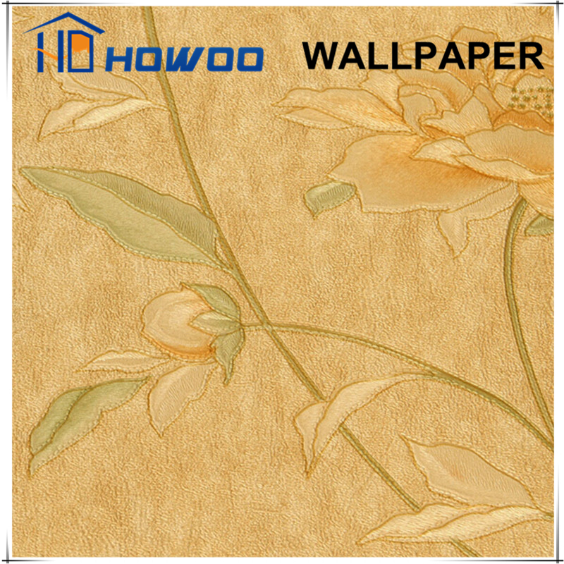 Howoo pvc decoration building construction wallpaper