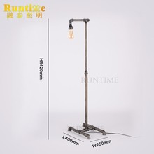 For Sale Vintage Pipe Floor Standing Lamp Light
